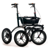 "Veloped Rollator Walker 14er- 14"" tires- Black/ Grey"