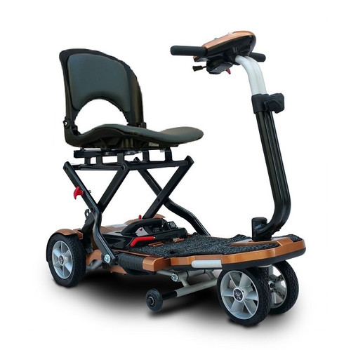 EV Rider - TranSport Plus - S19 Copper - 4 Wheel portable folding Electric Mobility Scooter