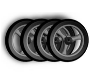 TOPRO Wheels PUR- Comfort wheel Soft - set of 4 # 814610 - Walking Aid Parts