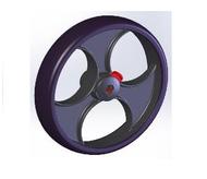 TOPRO Front wheel TPE Comfort wheel Grip # 814654 - Walking Aid Parts