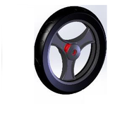 TOPRO Front wheel PUR Comfort wheel Soft Comfort wheel Soft # 814652 - Walking Aid Parts