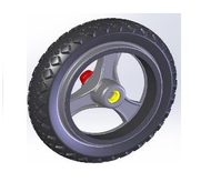 TOPRO Rear wheel Offroad (for IBS) # 814657 - Walking Aid Parts