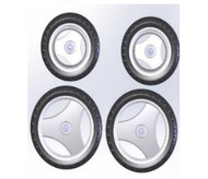 TOPRO OLYMPOS Wheels, Offroad Complete set of four 814661  - Walking Aid Parts