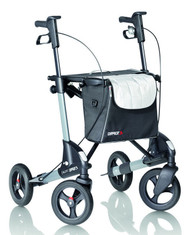 TOPRO TROJA 2G Premium - Medium - METALLIC DARK GREY - WITH BACKREST - Rollator Walker # 814600/1310 from right