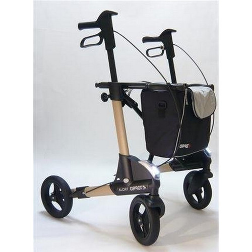 TOPRO - TROJA 2G Premium PLUS - Medium - METALLIC Sand Color - WITH BACKREST - Rollator Walker # 814600