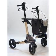 TOPRO - TROJA 2G Premium PLUS - Medium - METALLIC Sand Color - WITH BACKREST - Rollator Walker # 814600