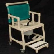 """Healthline - 18"""" Width Shower Chair -Vacuum Seat, Drop Arm, Sliding Footrest, Pail - SC6013DVAC-SF-DA-C7"""