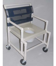 "Shower Chair- Vacuum Form Molded Seat- 24"" Int. Width- # SC6014X-VAC-EF"