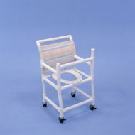 "Healthline - 18"" Width Shower Chair - Gated, Deluxe Elongated Commode Seat - SC6023"