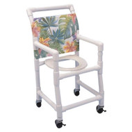 "Healthline - 15"" Width Shower Chair - Standard Commode Seat - SC6153S/PED"