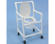 Healthline - Standard Commode Chair - CC601OP - Casters Not Included - Commode Comes With Rubber Tips