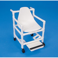 Healthline Medical - Shower Pool Transport Chair - PVC with Hard Seat - 300 lbs - # TCW4