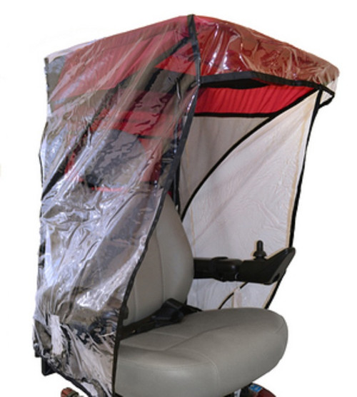 Diestco Scooter Cover - Max Protection Weatherbreaker Canopy Adult - C1330 Red
