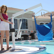 LifeGuard - Power Pool Lift - HOME USE - handicap pool lift Sling Style with Surface Mount Anchor #100252