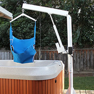 LifeGuard - Power Pool Lift Up - HOME USE - handicap pool lift Power Rotation with Sling #100276