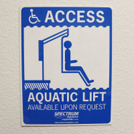 Spectrum Aquatics  - ADA Pool Sign # 42644