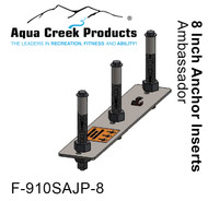 "Aqua Creek - Anchor Kit, Pavers, 3-point w/jig & 8"" inserts, Pro XR, Ambassador # F-910SAJP-8"