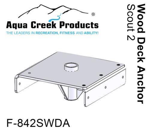 F-842SWDA Wood Deck Anchor