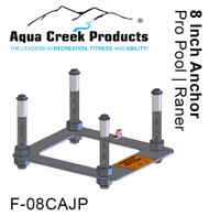 "Aqua Creek - Anchor kit, Pavers, 4-point w/jig & 8"" inserts, Ranger, Pro # F-08CAJP"