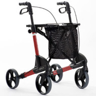 TOPRO TROJA Classic- Medium - Rollator Walker - Optional backrest # 814750/125 - WINE RED