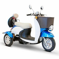 E-Wheels - EW-11B Euro Style Mobility Scooter - Blue White