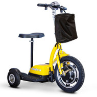 E-Wheels - EW-18 Stand-N-Ride Mobility Scooter - Yellow