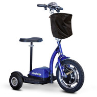 E-Wheels - EW-18 Stand-N-Ride Mobility Scooter - Blue