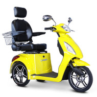 E-Wheels - EW-36Y Elite Three Wheel Electric Mobility Scooter - Yellow