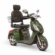 EW-36GRNCM Elite Three Wheel Electric Mobility Scooter - Green Camouflage