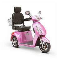 EW-36M Three Wheel Electric Mobility Scooter - Magenta