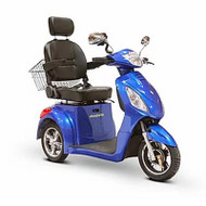 E-Wheels - EW-36B Three Wheel Electric Mobility Scooter - Blue