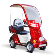E-Wheels - EW-54R Buggie - Four Wheel Electric Mobility Scooter Full Size Canopy - Red
