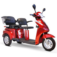 E-Wheels - EW-66R Two Passenger Three Wheel Electric Mobility Scooter - Red