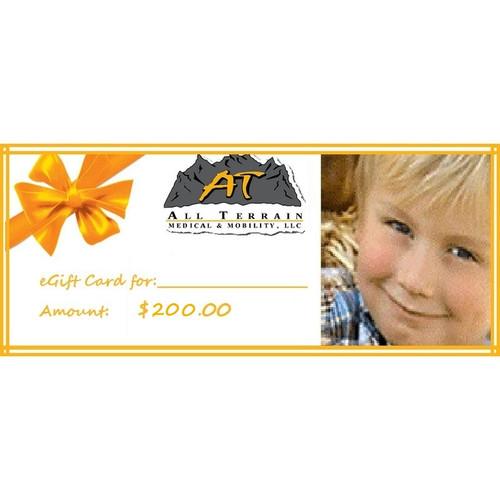 All-Terrain Medical Gift Card $200.00