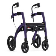 Rollz Motion2 - Rollator and Transport Chair in One - Dark Purple - from side