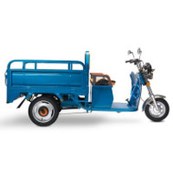Electric Cargo Truck - Side View Blue