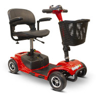 E-Wheels - EW-M34R Foldable Four Wheel Medical Mobility Scooter - RED