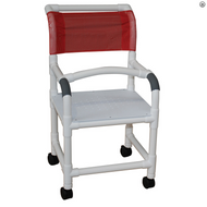 MJM International - 118-3TW-LSB-18-SSDE-10-QT-C-PS-18-SFS, (Flat Stock Seat With Drain Holes Shown Not Included), Chair Comes With Soft Seat Deluxe Elongated And Square Pail