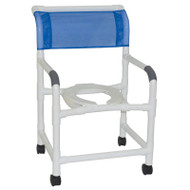 "Wide shower chair 22"" internal width- open front seat- 3"" twin casters-  375 lbs weight capacity - # 122-3TW"