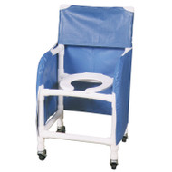 "Privacy skirt (full length) with solid vinyl fabric for 18"" internal width shower chair - # PS-1"