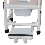 Optional Sliding footrest with front foot supports - # SFS