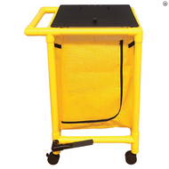 MJM International - Y214-S-FP - Hamper Comes With Yellow PVC Instead Of White, Shown Here On A Similar Hamper