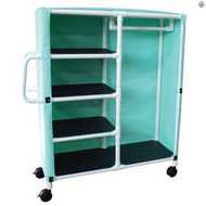 MJM International -  380-C-C-3S - Model Shown Is 380-C-C - Cart Comes With 3 Shelves