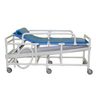MJM International - Sling gurney with three position elevating headrest- drain pan & drain hose- 450 lbs weight capacity - 930 - Foam Pad Not Included