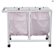 MJM International - NON- Magnetic Double hamper with leakproof bags only- 22 gallon capacity per bag - # 214-D-LP-MRI
