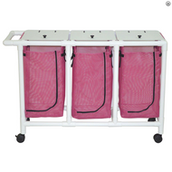 MJM International - NON-Magnetic Triple hamper with leakproof bags only- 22 gallon capacity per bag - # 214-T-LP-MRI