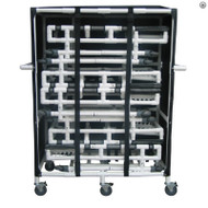 MJM International - 4PK-SOFB-PEDI - Similar Cart With 5 Bed Capacity Shown Here