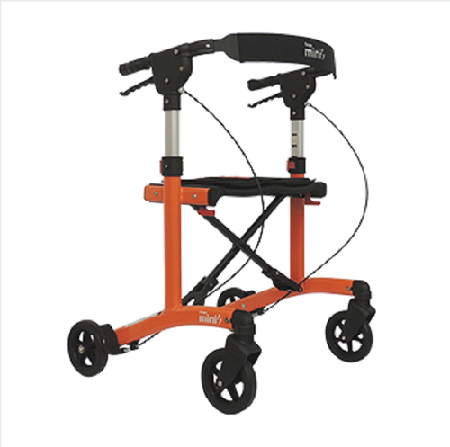 """Escape Rollator Mini Orange -20"""" seat height # 500-20203"""