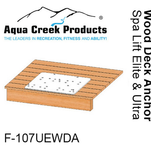Aqua Creek - Anchor Kit for Spa Elite/Ultra Lifts - Wood Deck Applications # F-107UEWDA