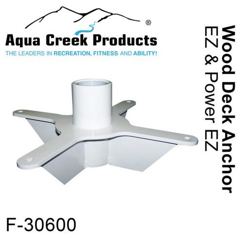 Aqua Creek - Anchor Kit for EZ-2 - Power EZ-2 Wood Deck Applications # F-30600